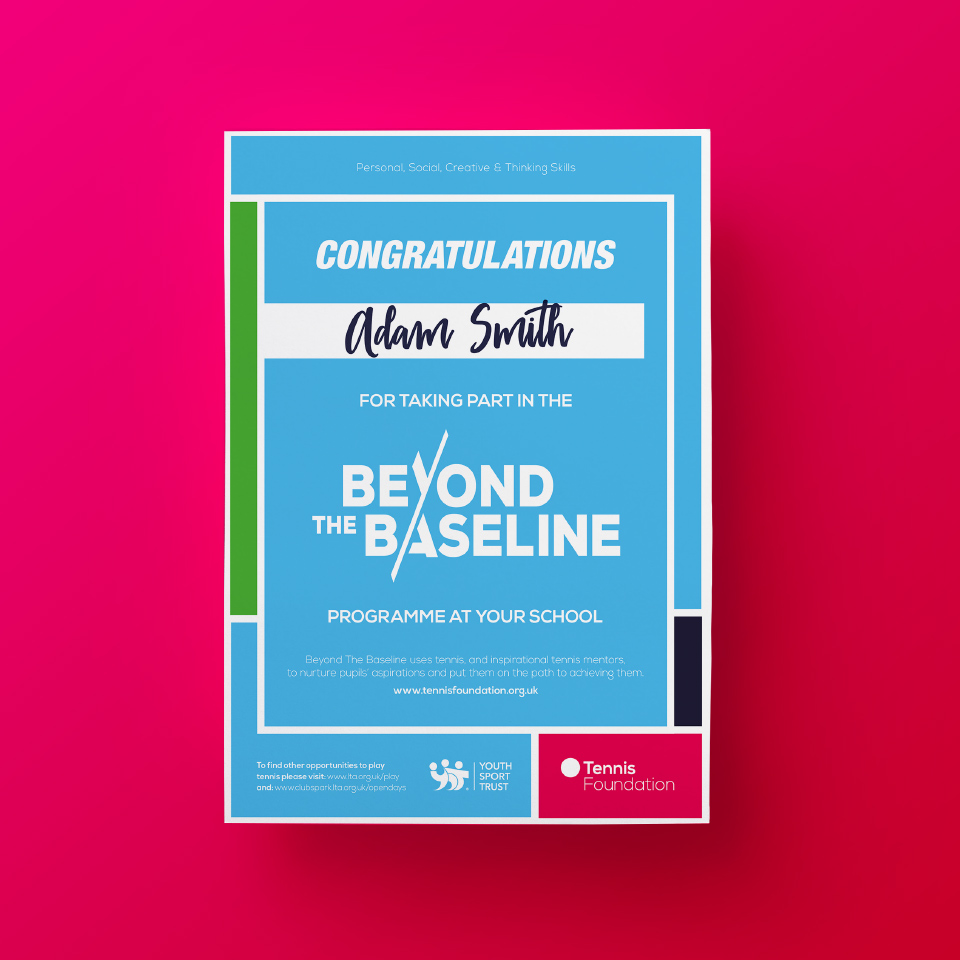 Beyond the Baseline - Certificate