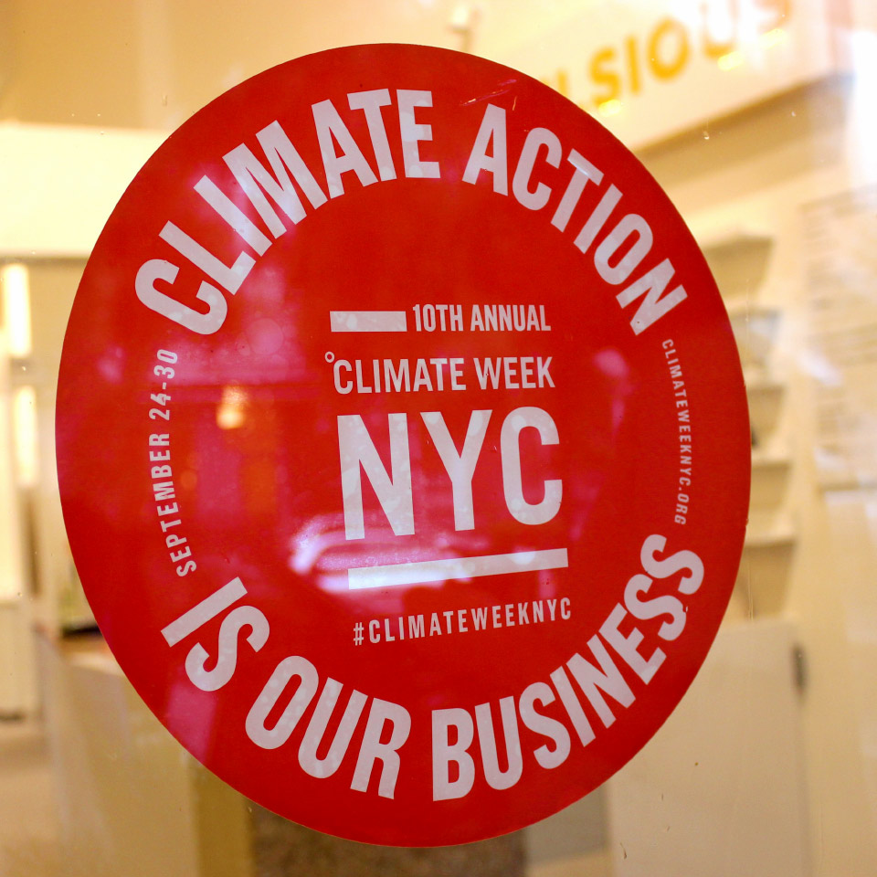Climate Week NYC - Window Decal