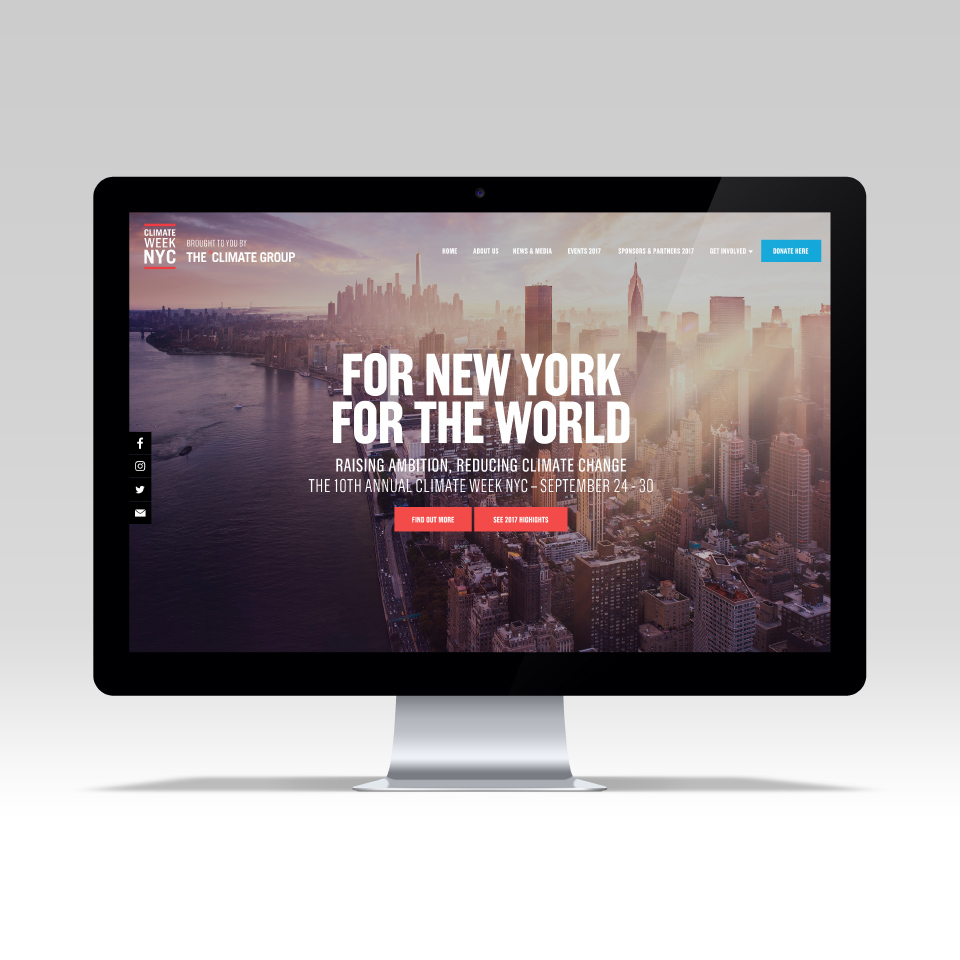 Climate Week NYC - Website Design